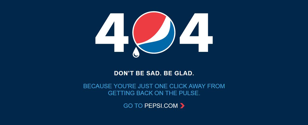 Error 404 pepsi